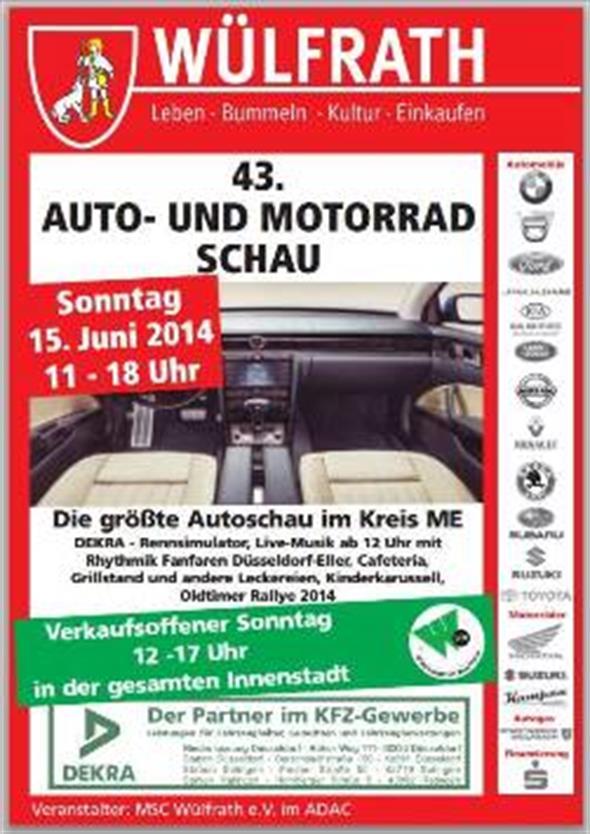 Autoschau Und Motorradschau In Wülfrath Sonntag Verkaufsoffen